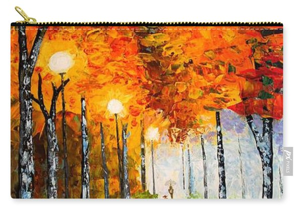 Autumn Park Night Lights Palette Knife Carry-all Pouch