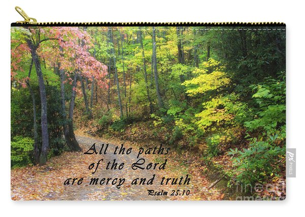 Autumn Path With Scripture Carry-all Pouch