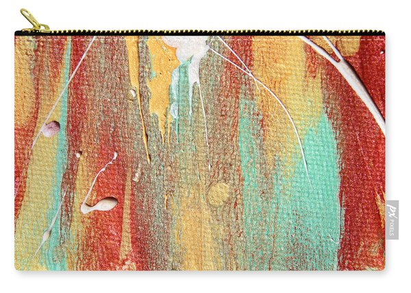 Autumn Rain Abstract Painting Carry-all Pouch