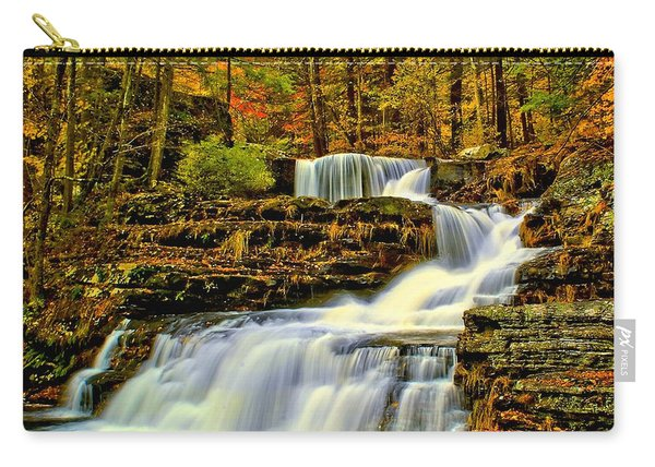 Autumn By The Waterfall Carry-all Pouch