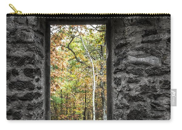 Autumn Within Cunningham Tower - Historical Ruins Carry-all Pouch