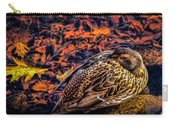 Autumns Sleepy Duck Carry-all Pouch