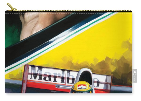 Ayrton Senna Artwork Carry-all Pouch