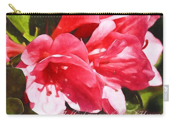 Azalea With Scripture Carry-all Pouch