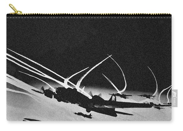 B 17 Contrails Carry-all Pouch