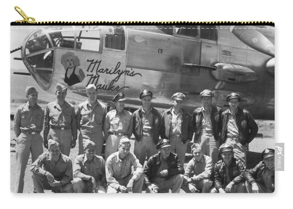 B-25 Bomber And Crew Carry-all Pouch