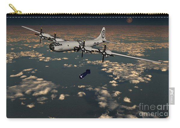 B-29 Superfortress Dropping Little Boy Carry-all Pouch