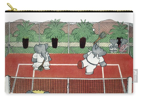 Babar The Elephant, 1930s Carry-all Pouch