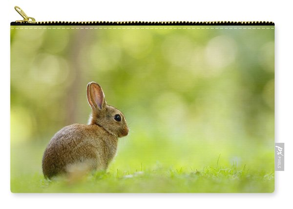 Baby Bunny In The Forest Carry-all Pouch