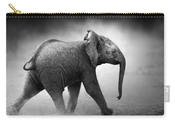 Baby Elephant Running Carry-all Pouch