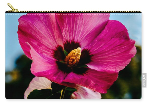 Baby Pink Hollyhock Carry-all Pouch