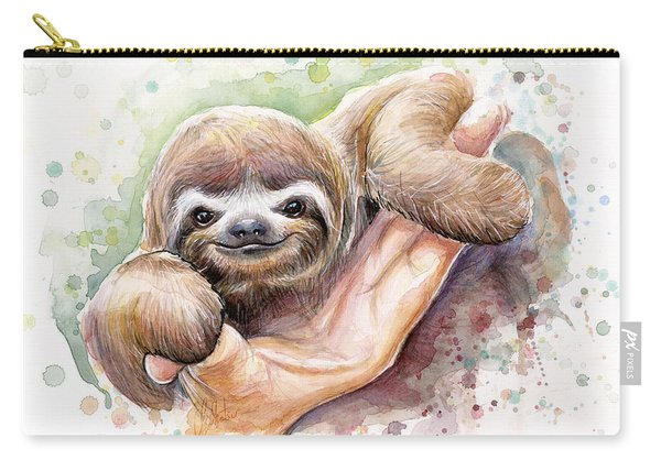 Baby Sloth Watercolor Carry-all Pouch