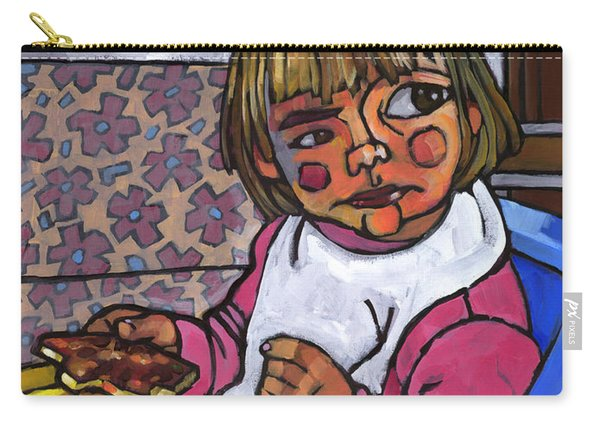 Baby With Pizza Carry-all Pouch