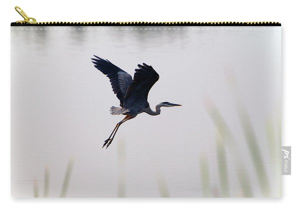 Back Lit Great Blue Heron Ardea Carry-all Pouch