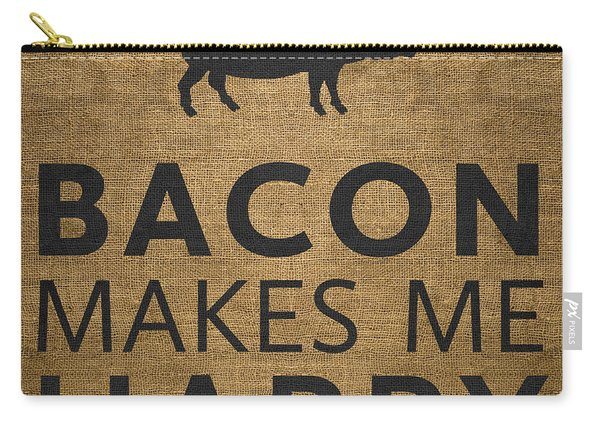 Bacon Makes Me Happy Carry-all Pouch