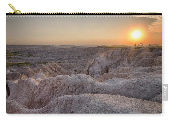Badlands Overlook Sunset Carry-all Pouch