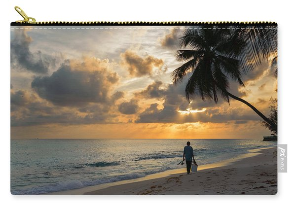 Carry-all Pouch featuring the photograph Bajan Fisherman by Garvin Hunter