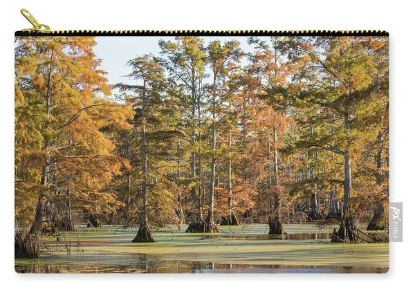 Bald Cypress Trees In Swamp, Horseshoe Carry-all Pouch