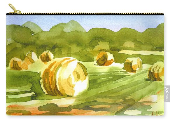 Bales In The Morning Sun Carry-all Pouch