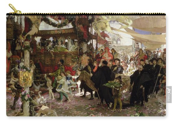Baptismal Procession Of Prince Juan In Seville Oil On Canvas Carry-all Pouch