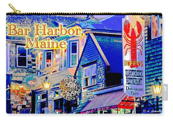 Bar Harbor Maine Shops At Night Carry-all Pouch