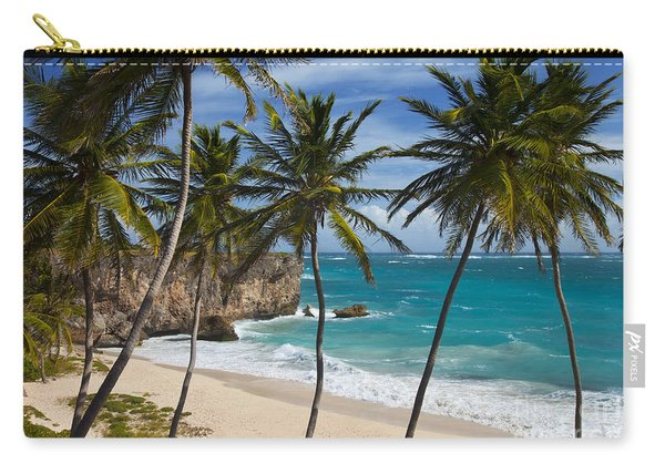 Carry-all Pouch featuring the photograph Barbados Beach by Brian Jannsen