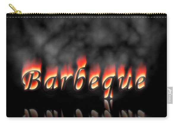 Barbeque Text On Fire Carry-all Pouch
