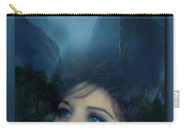 Barbra's Smiling Moon Carry-all Pouch