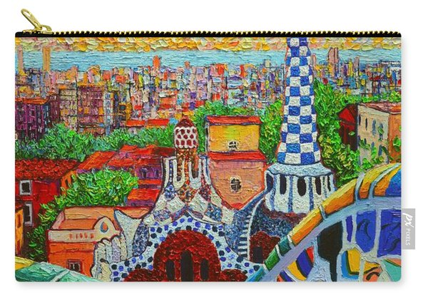 Barcelona Sunrise - Guell Park - Gaudi Tower Carry-all Pouch