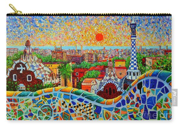 Barcelona View At Sunrise - Park Guell  Of Gaudi Carry-all Pouch