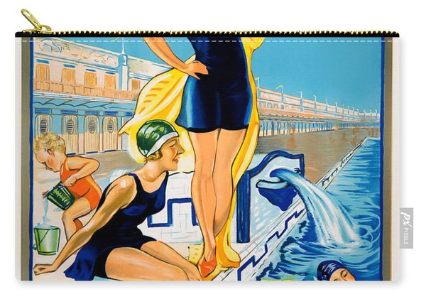 Barcelona Vintage Travel Poster Carry-all Pouch