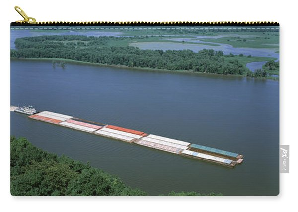 Barge In A River, Mississippi River Carry-all Pouch