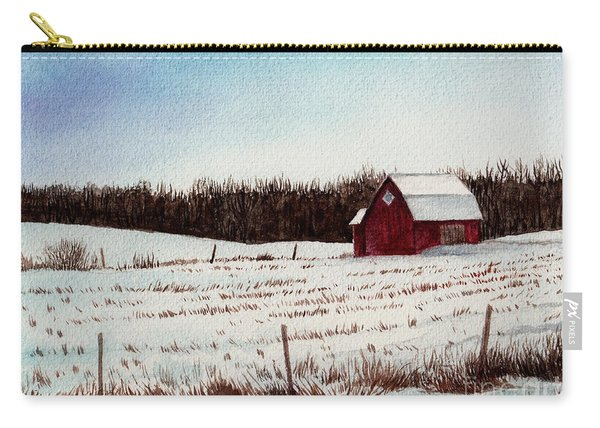 Tree Farm Barn In The Snow Number Two Carry-all Pouch