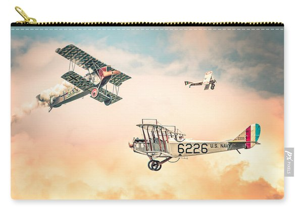 Barnstormers In The Golden Age Of Flight - Replica Fokker D Vll - Spad 7 - Curtiss Jenny Jn-4h Carry-all Pouch