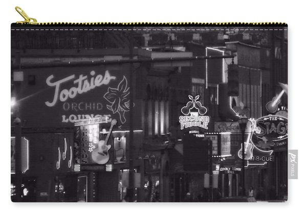 Bars On Broadway Nashville Carry-all Pouch