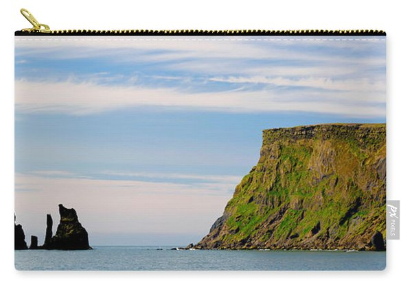 Basalt Rock Formations In The Sea, Vik Carry-all Pouch