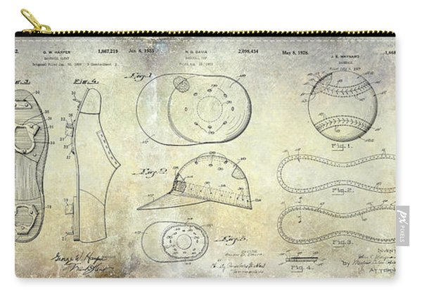 Baseball Patent Panoramic Carry-all Pouch