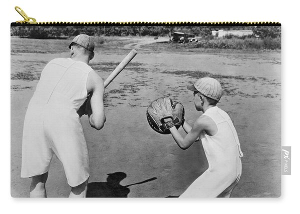 Baseball In Union Suits Carry-all Pouch