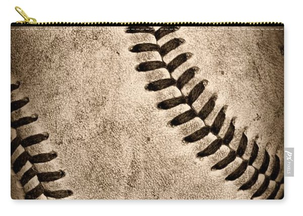 Baseball Old And Worn Carry-all Pouch
