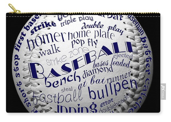 Baseball Terms Typography 2 Carry-all Pouch