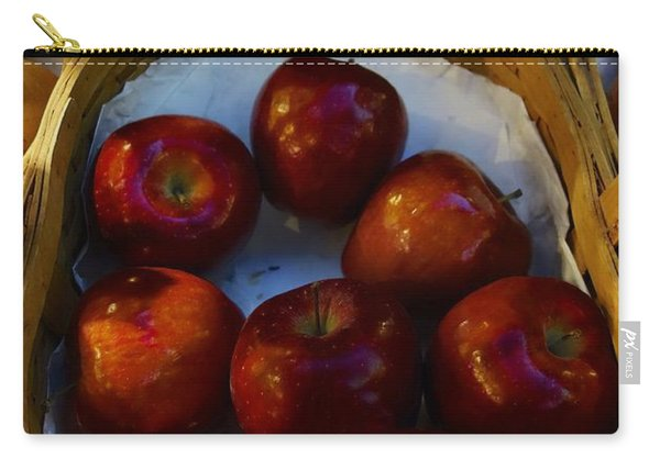 Basket Of Red Apples Carry-all Pouch