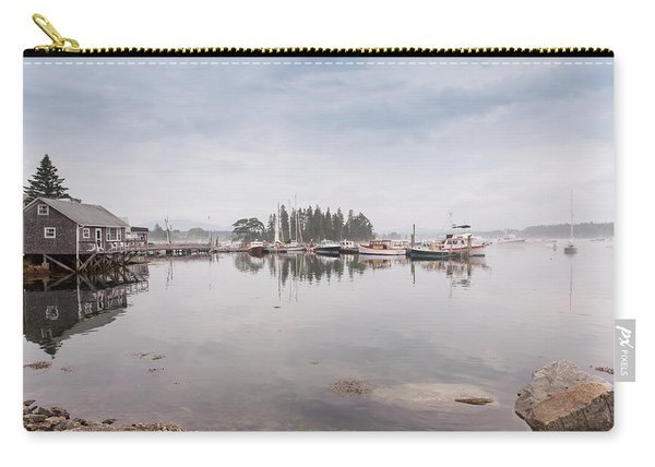 Bass Harbor In The Morning Fog Carry-all Pouch