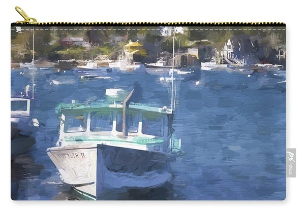 Bass Harbor Maine Painterly Effect Carry-all Pouch