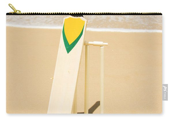 Bat Ball And Stumps Carry-all Pouch