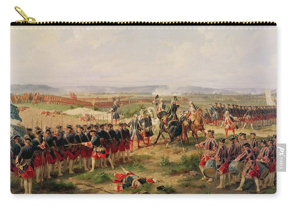 Battle Of Fontenoy, 11 May 1745 The French And Allies Confronting Each Other Carry-all Pouch