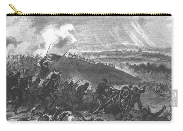 Battle Of Gettysburg - Final Charge Of The Union Forces At Cemetery Hill, 1863 Pub. 1865 Engraving Carry-all Pouch