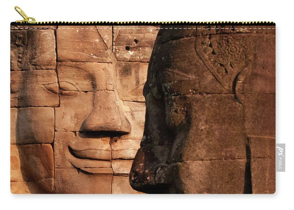 Bayon Faces 02 Carry-all Pouch