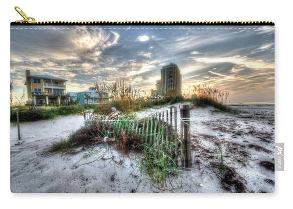 Beach And Buildings Carry-all Pouch