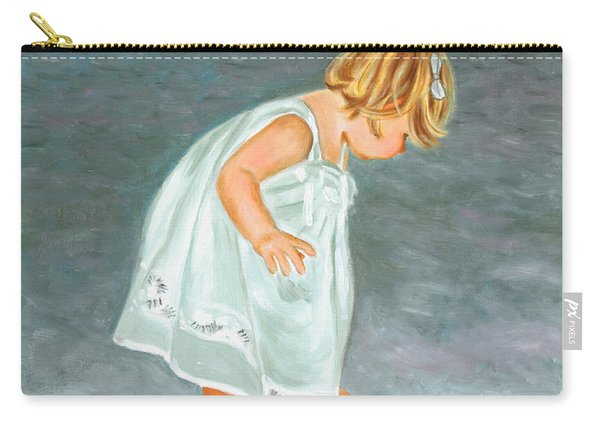 Beach Baby In White Carry-all Pouch