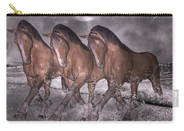 Beach Horse Trio Night March Carry-all Pouch